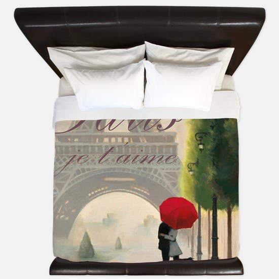 Je T'aime Paris King Duvet