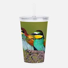 European Bee-eaters Acrylic Double-wall Tumbler