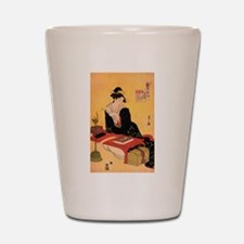 Immortal Poet by Chobunsei Eishi Shot Glass