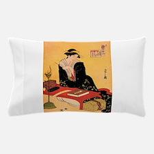 Immortal Poet by Chobunsei Eishi Pillow Case