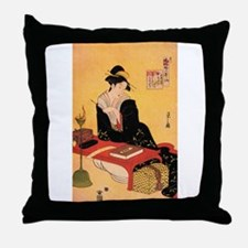 Immortal Poet by Chobunsei Eishi Throw Pillow