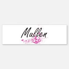 Mullen surname artistic design with Bumper Bumper Bumper Sticker
