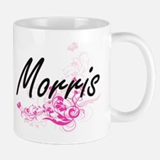 Morris surname artistic design with Flowers Mugs
