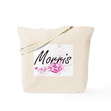 Morris surname artistic design with Flowe Tote Bag
