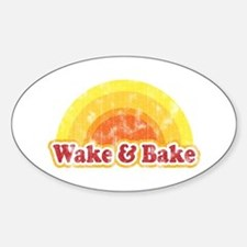 Wake and Bake Oval Decal