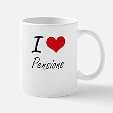 I Love Pensions Mugs