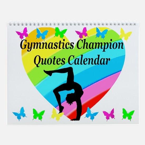 Lovely Gymnast Wall Calendar