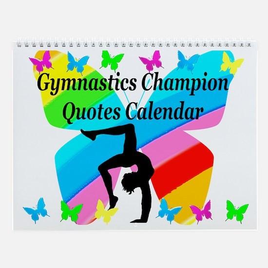 Pretty Gymnast Wall Calendar