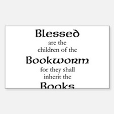 Book worm love Decal