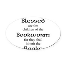 Book worm love Oval Car Magnet