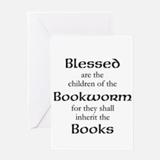 Book worm love Greeting Cards