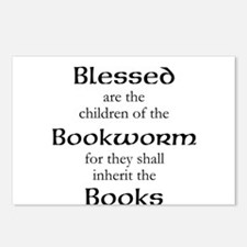 Book worm love Postcards (Package of 8)