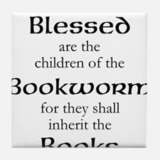 Book worm love Tile Coaster