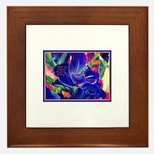 Flowers-Blue-Bold.jpg Framed Tile