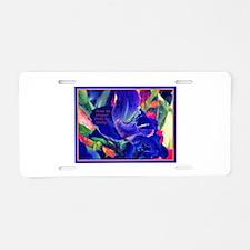 Flowers-Blue-Bold.jpg Aluminum License Plate