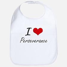 I Love Perseverance Bib