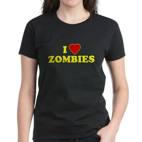 I Love [Heart] Zombies Women's Dark T-Shirt