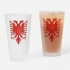 Albanian Eagle Drinking Glass