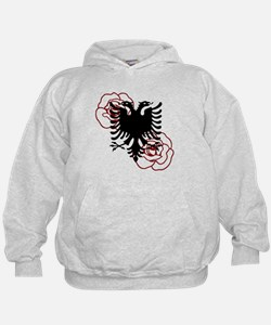 Albanian Eagle with Roses Hoodie