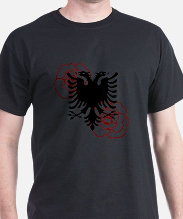Albanian Eagle with Roses T-Shirt
