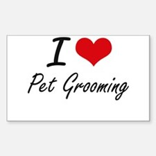 I Love Pet Grooming Decal