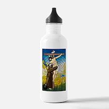 St Francis Embraces Jesus 2 Water Bottle