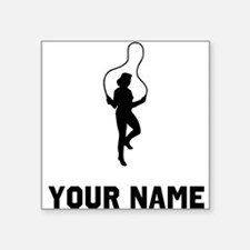 Woman Jumping Rope Silhouette Sticker