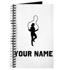 Woman Jumping Rope Silhouette Journal