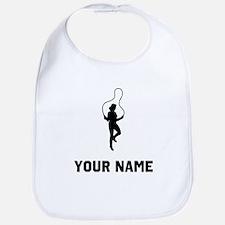Woman Jumping Rope Silhouette Bib
