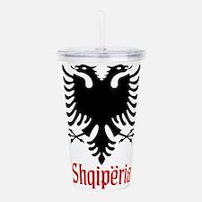 Albanian Eagle Acrylic Double-wall Tumbler