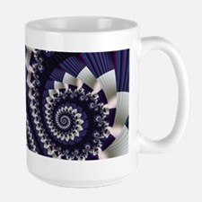"""Pleats 3"" Fractal Art Large Mug"