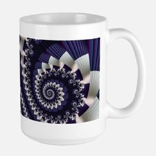 """Pleats 3"" Fractal Art Mug"