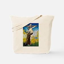 St Francis Embraces Jesus 2 Tote Bag