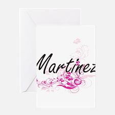Martinez surname artistic design wi Greeting Cards