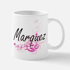 Marquez surname artistic design with Fl Mugs