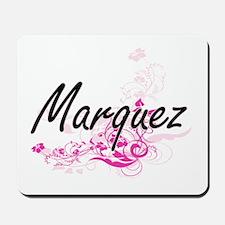 Marquez surname artistic design with Flo Mousepad