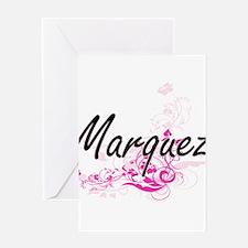 Marquez surname artistic design wit Greeting Cards