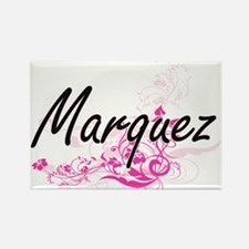 Marquez surname artistic design with Flowe Magnets