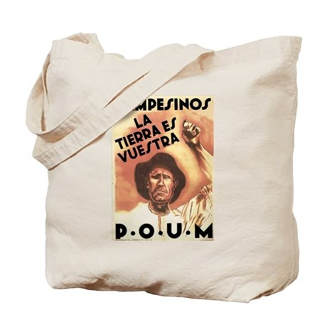 2-sided POUM Spanish Civil War Tote Bag