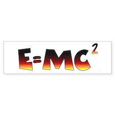 E=MC2 Relativity Bumper Sticker