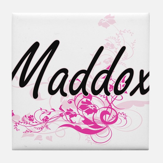 Maddox surname artistic design with F Tile Coaster