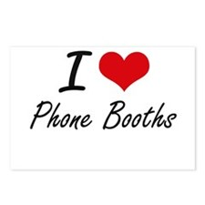 I Love Phone Booths Postcards (Package of 8)