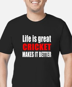 Life is great Cricket Men's Fitted T-Shirt (dark)