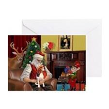 Santa's Beagle Greeting Cards (Pk of 20)