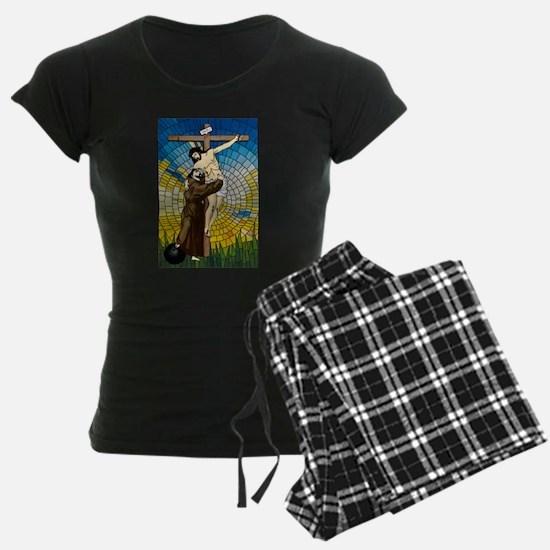 St Francis Embraces Jesus 2 Pajamas
