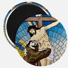 St Francis Embraces Jesus 2 Magnets