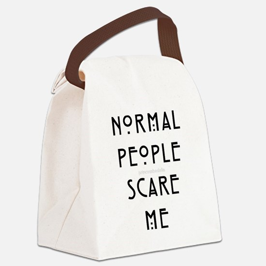 Normal People Scare Me Canvas Lunch Bag