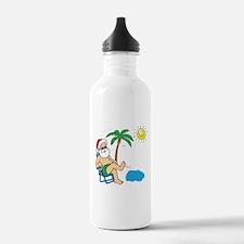 Santa Vacation Sports Water Bottle