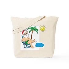 Santa Vacation Tote Bag