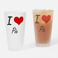 Cute I love rice pudding Drinking Glass